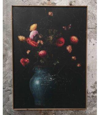 # Muse bloemenvaas op perk. in lijst - 51 x 71 cm