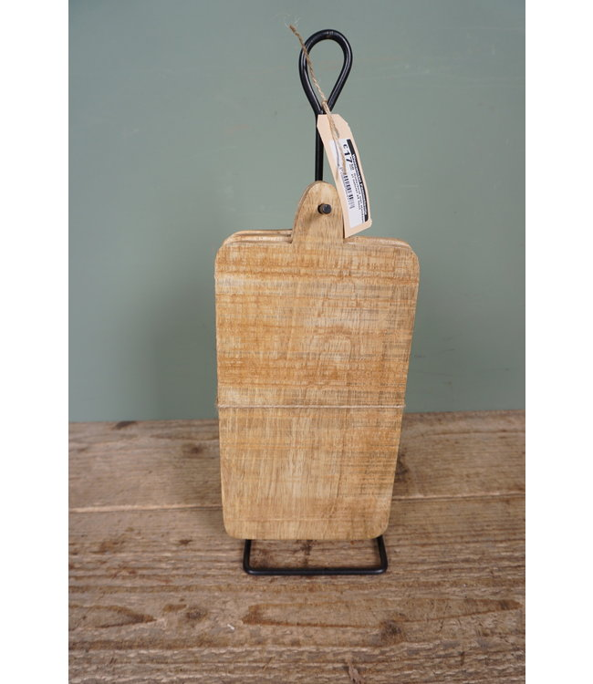 # Onderbord met standaard xl naturel s4 hout - 12 x 12 x 35 cm