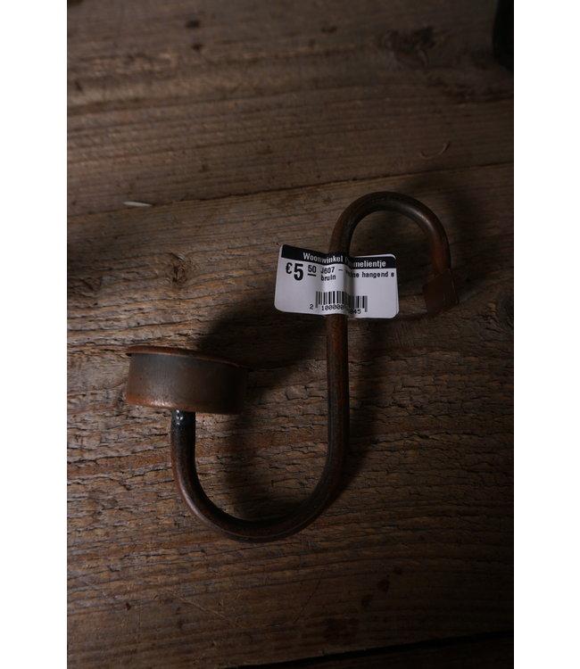 # J607 - waxine hangend s bruin - 12 x 15 x 5 cm