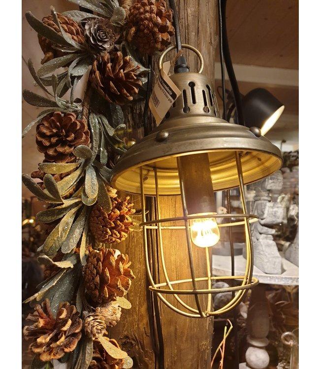 # Hanglamp E14 Onion grijs - L15,5B15,5H315CM - (excl. gloeilamp)