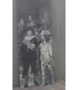 A062 - nachtwacht deco bord 20 x 55 cm
