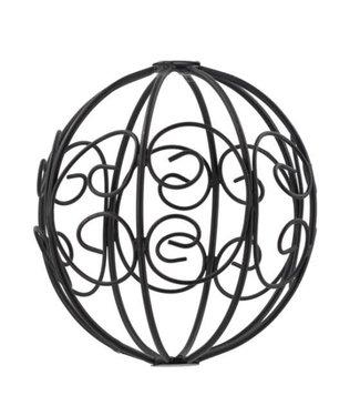 Metalen kerstbal - 12 x 12 cm