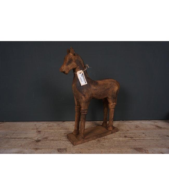 # Houtsnijwerkpaard - 3 - 40  x 12 x 47,5 cm