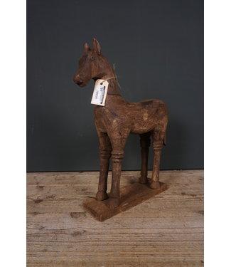 Houtsnijwerkpaard - 4 - 41 x 11 x 47,5 cm