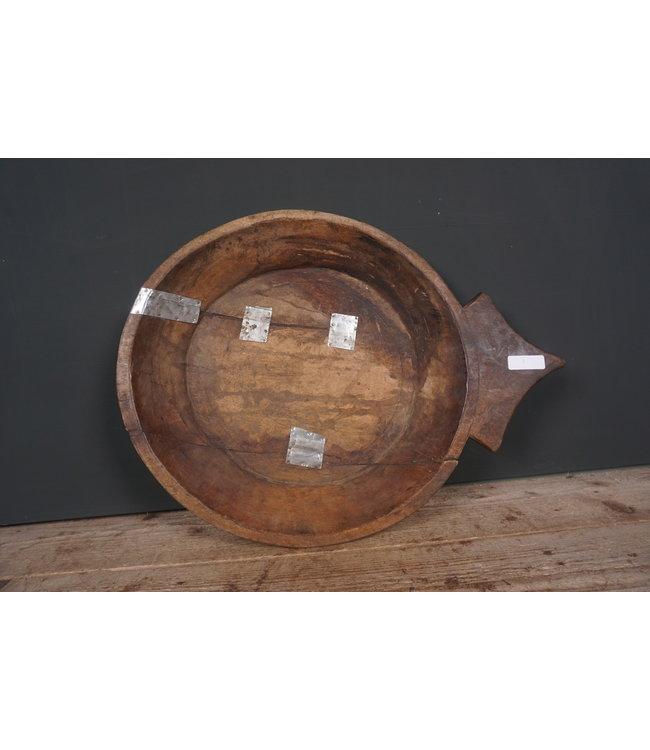 # Houten schaal met oor - 3 - 60 x 46 x 7 cm