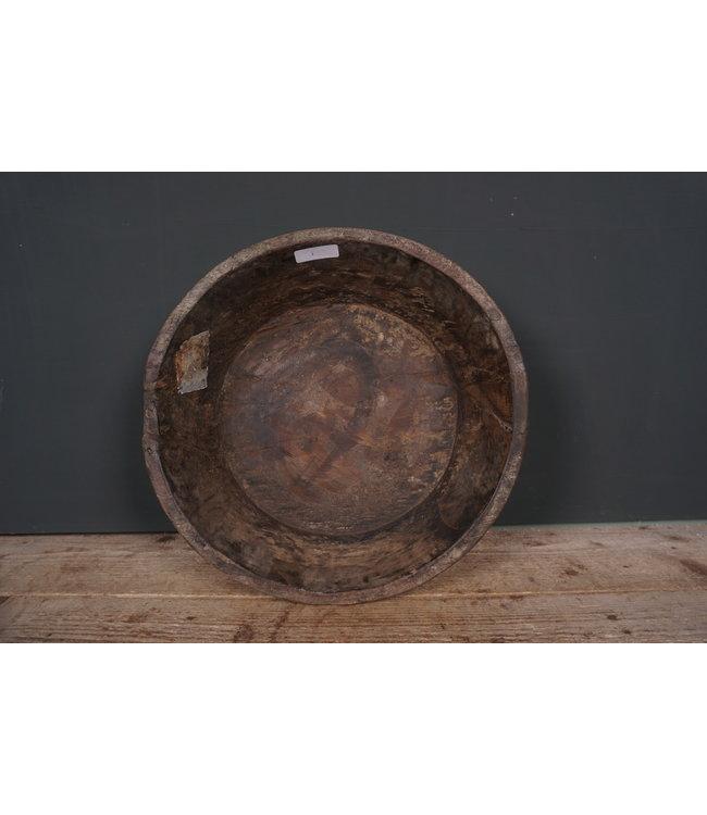 # Ronde houten schaal - 42 - 42 x 42 x 12 cm