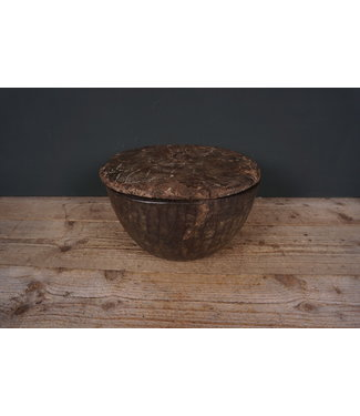 # Houten schaal met deksel - 2 - 33 x 33 x 20 cm