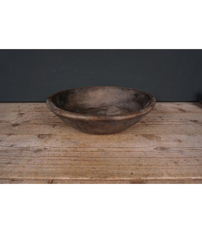 Ronde houten schaal - 56 - 41 x 42 x 10 cm