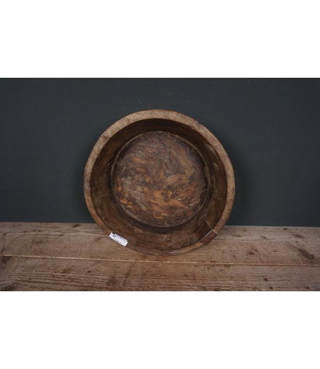 # Ronde houten schaal - 32 - 38 x 38 x 11 cm