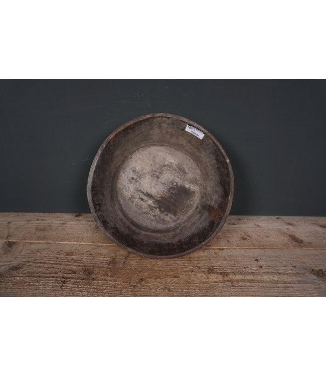 Ronde houten schaal - 38 - 37 x 37 x 11 cm