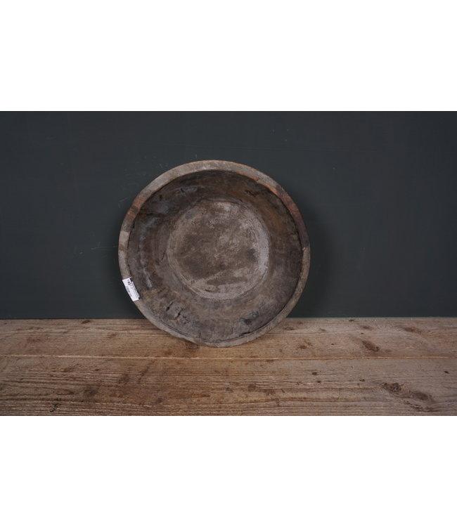 Ronde houten schaal - 40 - 40 x 40 x 10 cm
