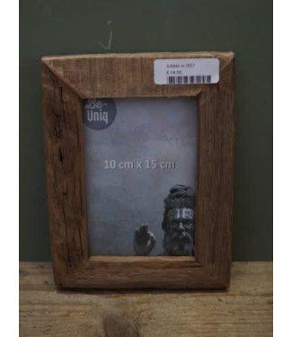 *I557 - Fotolijst - oud hout - 16 x 21 x 2 (binnenkant 9,5 x 14,5 cm)