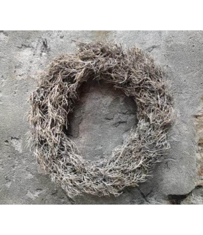# Puur iron bush wreath 38 cm frosted white