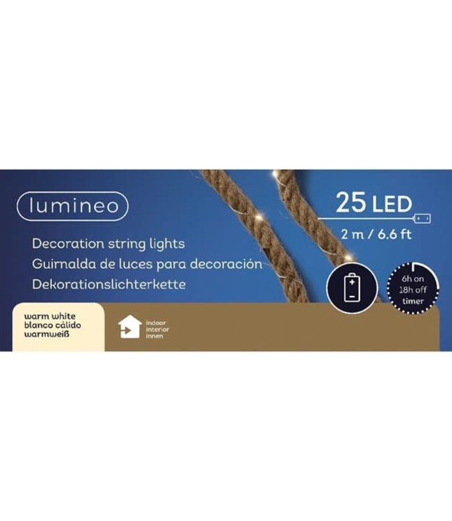 # micro LED guirlande touw bo - 200cm-25L - warm wi
