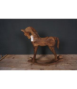 Houtsnijwerkpaard - 5 - 41 x 10 x 48 cm