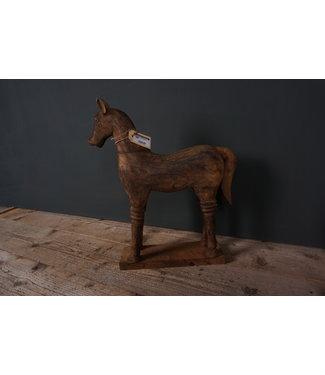 Houtsnijwerkpaard - 6 - 31 x 10 x 48 cm