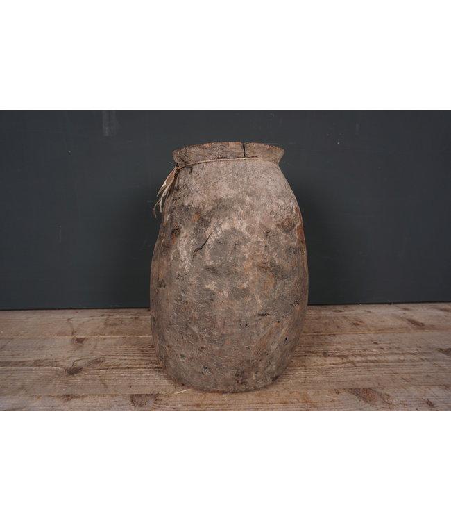 # Naga - houten pot - 1 - 29 x 29 x 41 cm
