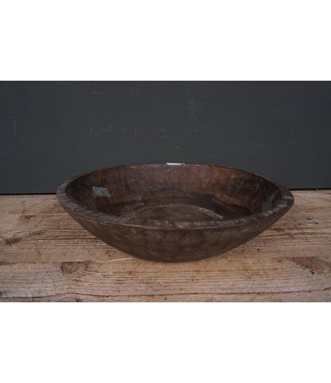 # Ronde houten schaal - 39 - 42 x 42 x 10,5 cm