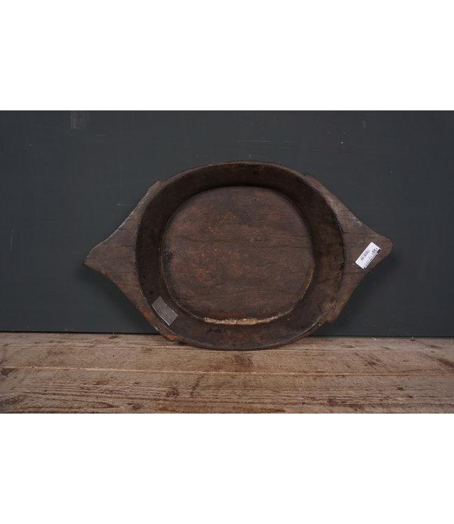 # Houten schaal met oren - 10 - 61 x 38 x 9 cm