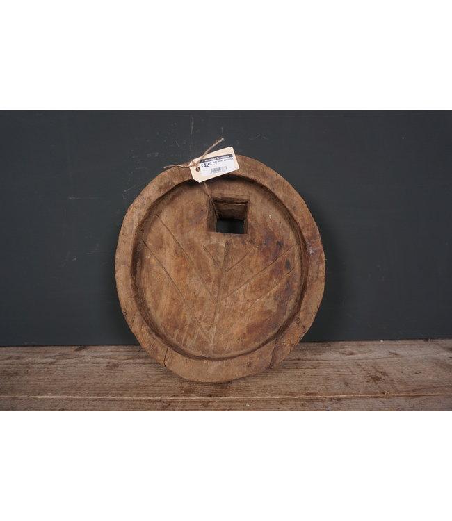 # Oude houten waterschaal - 8 - 34 x 34 x 9 cm