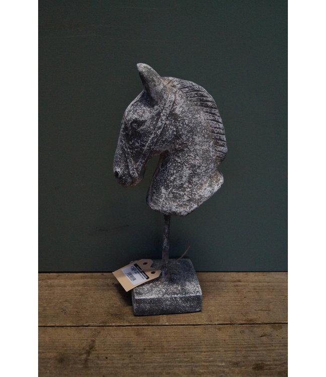 # Paardenhoofd Incus L grijs - 15 x 10 x 34 cm