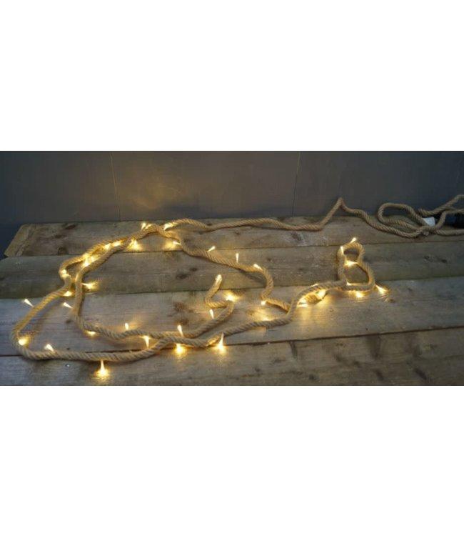 B230 - Robuust touw met verlichting met stekker - 4meter - 40 lamps