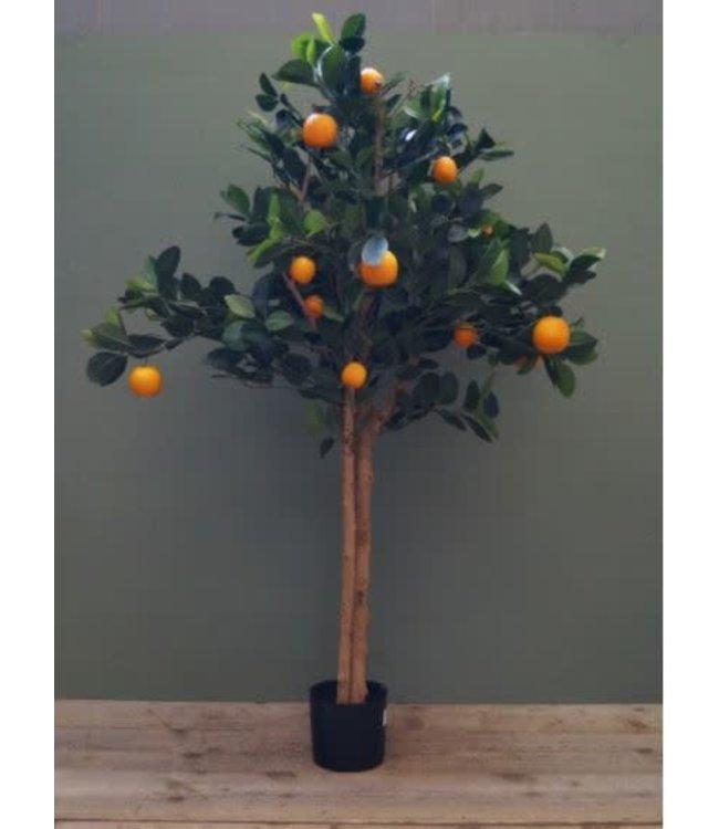 # I289 - Golden orange tree with fruits - sinaasappelboom - 74 x 74 x 111 cm