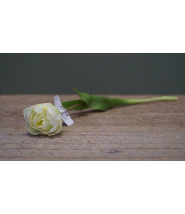 # J570 - Witte tulp - kunst - 39 x 6,5 x 5 cm