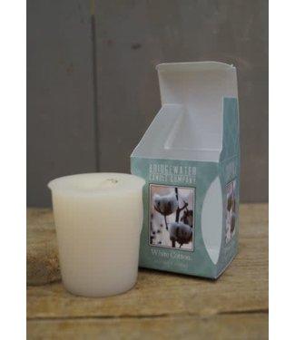 *C033 - Bridgewater - Geurkaars - White Cotton - 5x5x6 - 4,5 x 5 cm