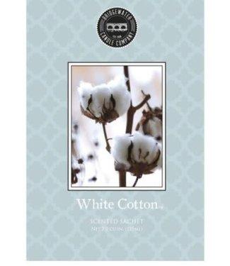 *Q693 - Bridgewater - geurzak - White Cotton- 11,5 x 17 cm