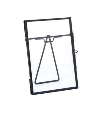 J278 - metal glass photoframe -  18x14.5x1.5 cm