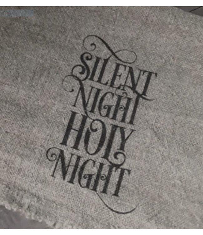 *Doek Shabby Silent Night Holy Night - 30 x 45 cm
