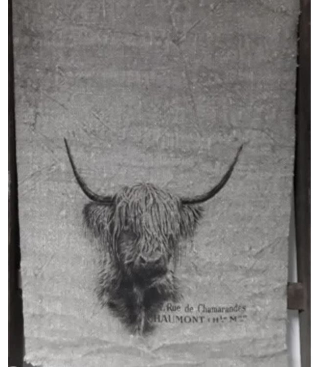 # J689 - Shabby lap - hooglander - 40 x 95 cm