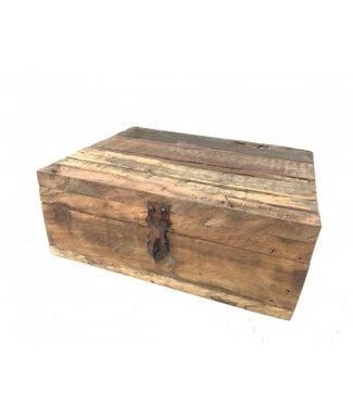 Teabox Railway wood - 24 x 20 x 10 cm