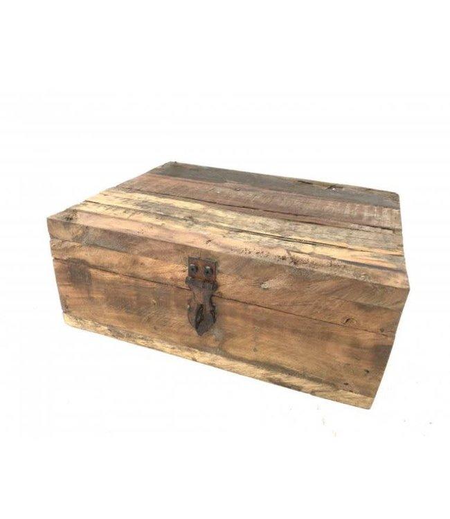 # Teabox Railway wood - 24 x 20 x 10 cm