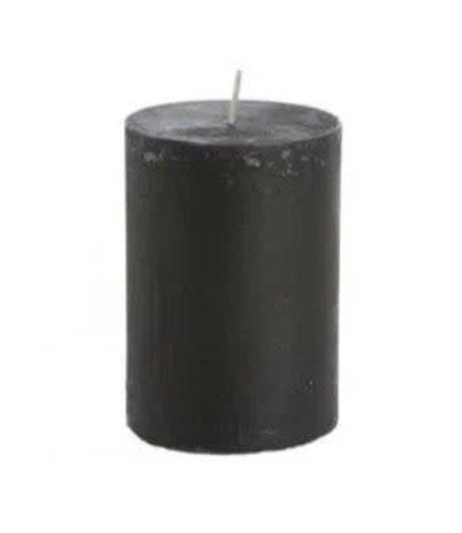 # Kaars rustiek zwart - 7 x 10 cm