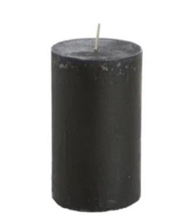 # Kaars rustiek zwart - 7 x 13,5 cm
