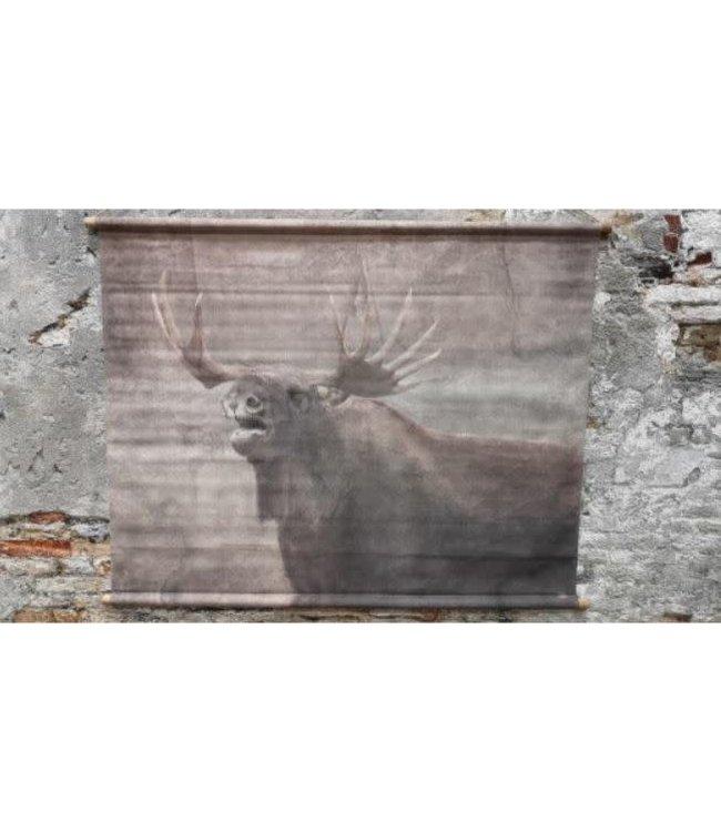 # I328 - Muse wanddoek deer 124x95cm