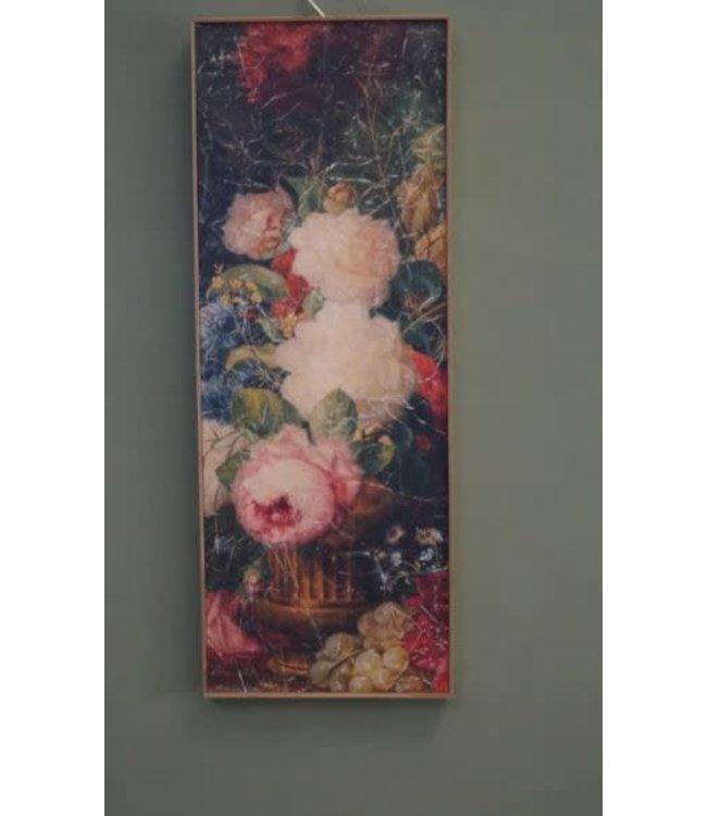 J703 - Wandpaneel - wandkleed in houten lijst - 30 x 80 x 3,5 cm
