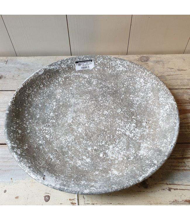 # J380 - bord ro teije s grijs aardewerk - 40 x 40 x 5 cm - alleen afhalen/wordt niet verzonden