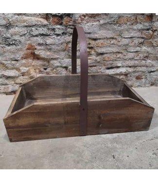 Lyon Wood Tray Metal Handel - hout - 54 x 30 x 36 cm