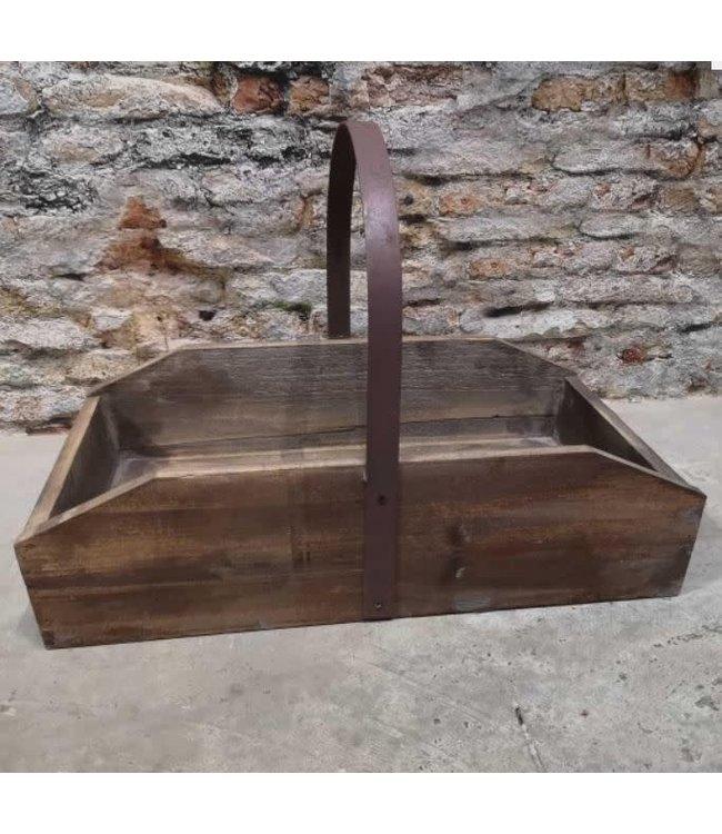 # Lyon Wood Tray Metal Handel - hout - 54 x 30 x 36 cm