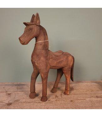 # Houtsnijwerkpaard - 1 - 41 x 10 x 46,5 cm