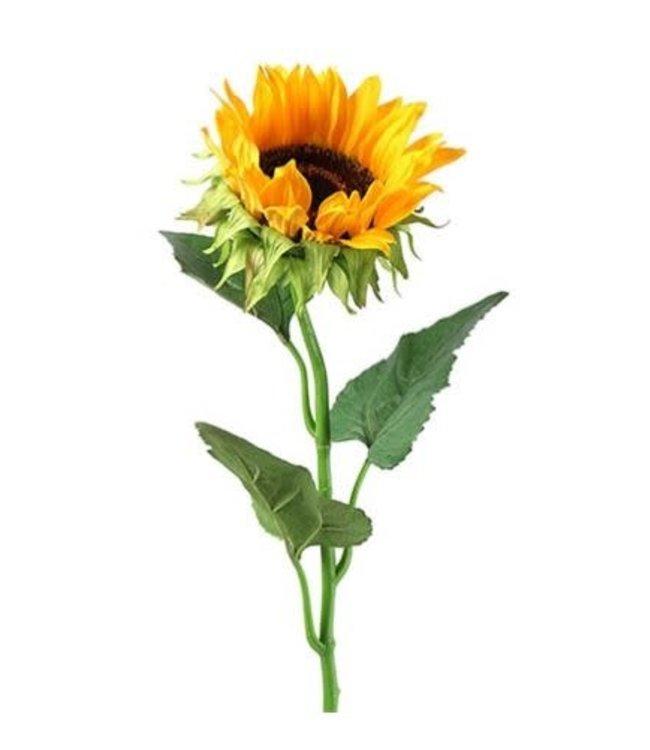 # J085 - Helianthus annuus Ilona S geel kunst - 8x8x85cm