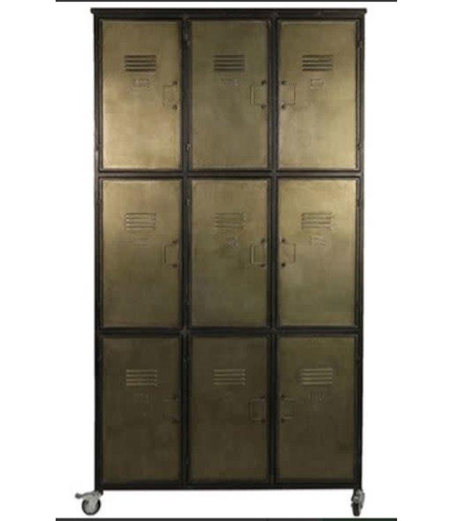 # W758 - kabinet Oshawa grijs - metaal - 112 x 43 x 200 cm - alleen afhalen/wordt niet verzonden