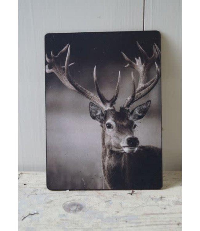 # E850 - Afbeelding hert gewei - 14 x 19 cm
