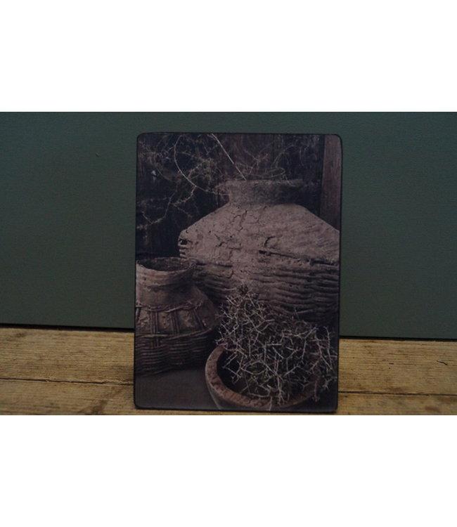 # B818 - Afbeelding op hardboard - vismanden