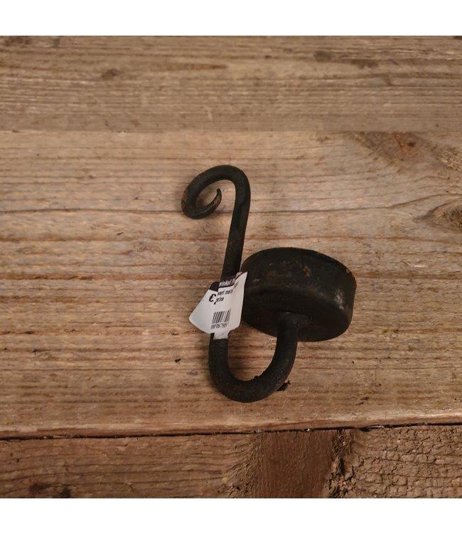 # Zwart metalen hanger waxine - 14 x 10 x 5 cm