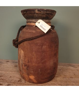 A149 - Nepalese houten pot - 22 x 22 x 36 cm