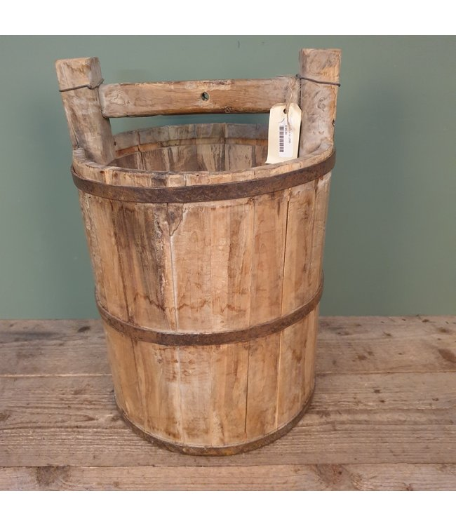 # J395 - houten emmer - 36 x 50 cm
